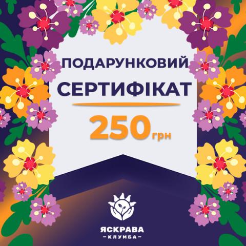 Подарунковий сертифікат на 250 грн.