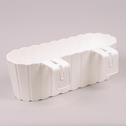 Балконний ящик Boardee Hook з кріпленням білий 40 см