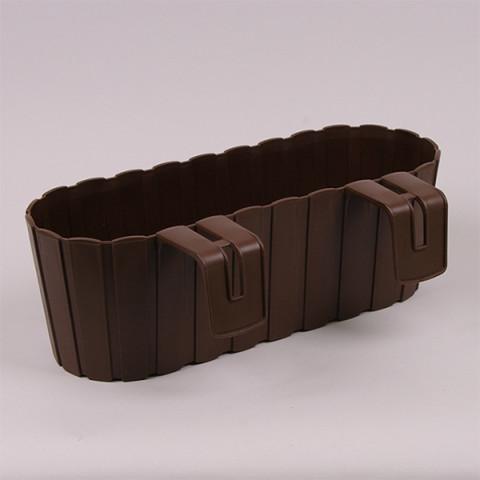 Балконний ящик Boardee Hook з кріпленням коричневий 40 см
