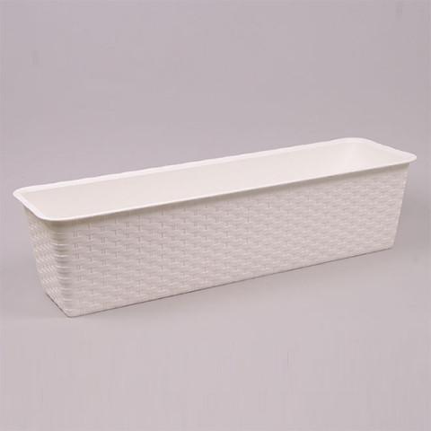 Балконный ящик Ratolla Case белый 40 см