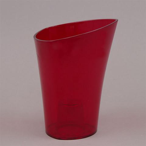 Горщик пластмасовий для орхідей Венус червоний 14.5 см