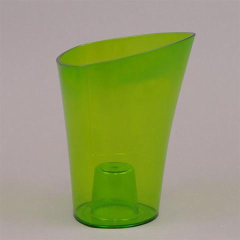 Горщик пластмасовий для орхідей Венус зелений 14.5 см
