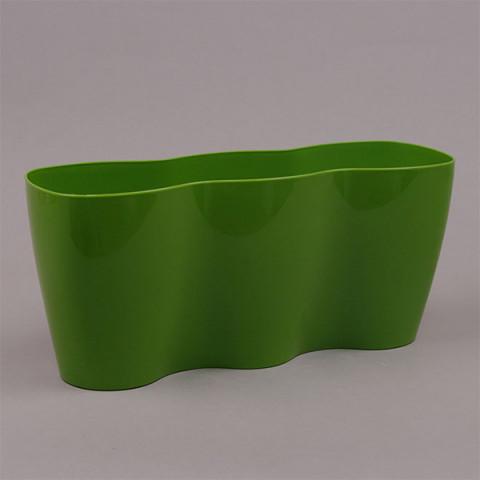 Горшок пластмассовый Базилик Тройка зеленый 30 см