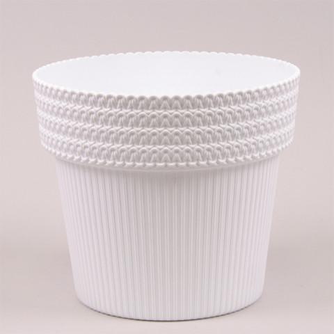 Горщик пластмасовий Pola Jumper білий 14.5 см