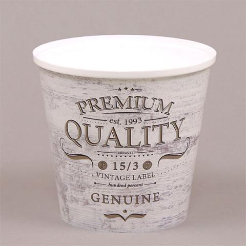 Горщик пластмасовий IML високий Premium Quality 13 см