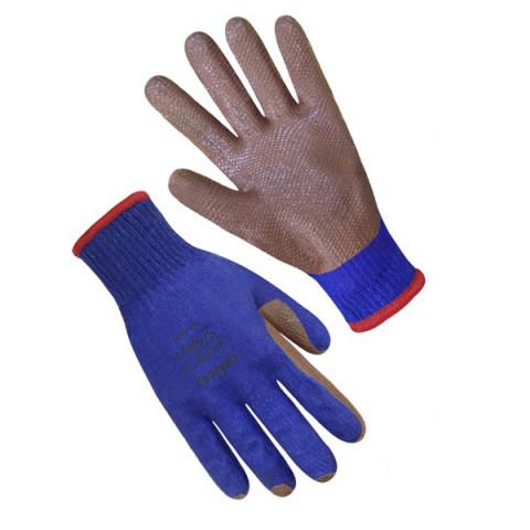 Перчатки Скляр синие с красным латексным покрытием 69208(б)