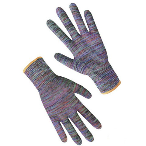 Перчатки синтетические Радуга с ниткой горничанка (б)