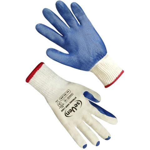 Перчатки Скляр белые с синим латексным покрытием SGL9459 (б)