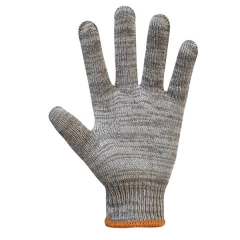 Перчатки трикотажные серые без ПВХ точки 71501