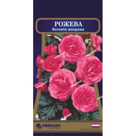Бегония махровая Розовая 10 семян-драже