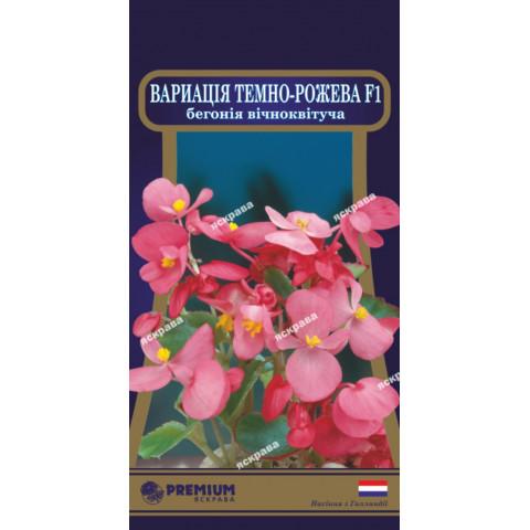 Бегония вечноцветущая Вариация Тeмно-розовая F1 (10 семян в оболочке)