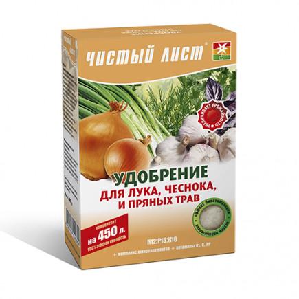 Чистый Лист АКВА для лука. чеснока и пряных трав 300 гр