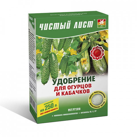 Чистый Лист АКВА для огурцов и кабачков 300 гр