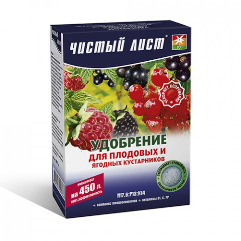 Чистый Лист АКВА для плодовых и ягодных кустарников 300 гр