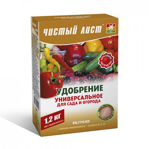 Чистый Лист АКВА универсальное для сада и огорода 1.2 кг