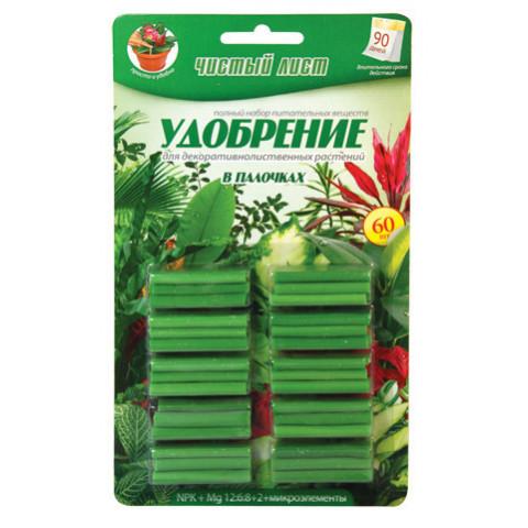 Палички Чистий Лист для декоративно-листяних 60 шт