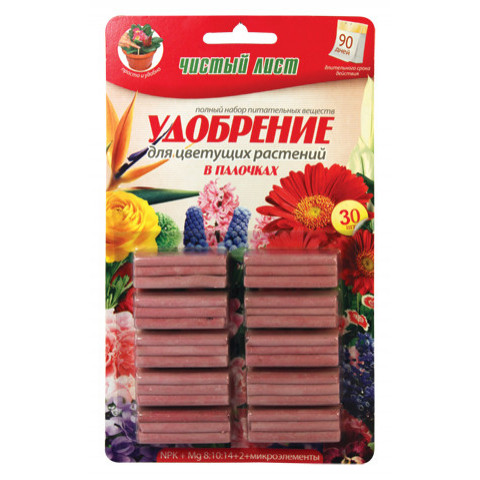 Палички Чистий Лист для квітучих 30 шт