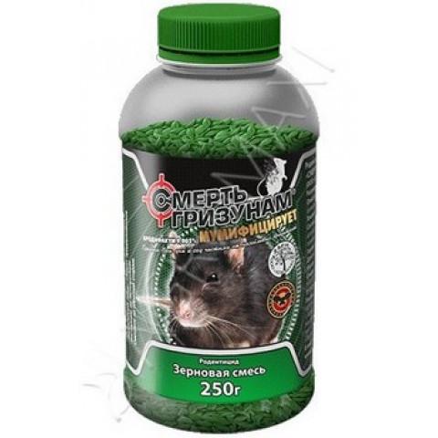 Смерть грызунам зерно ПЭТ банка 250 г (арахис)